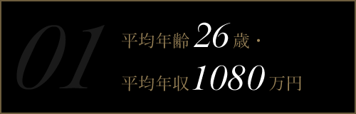 平均年齢26歳・平均年収1080万円