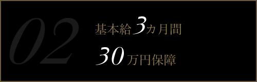 基本給3ヶ月間30万円保証